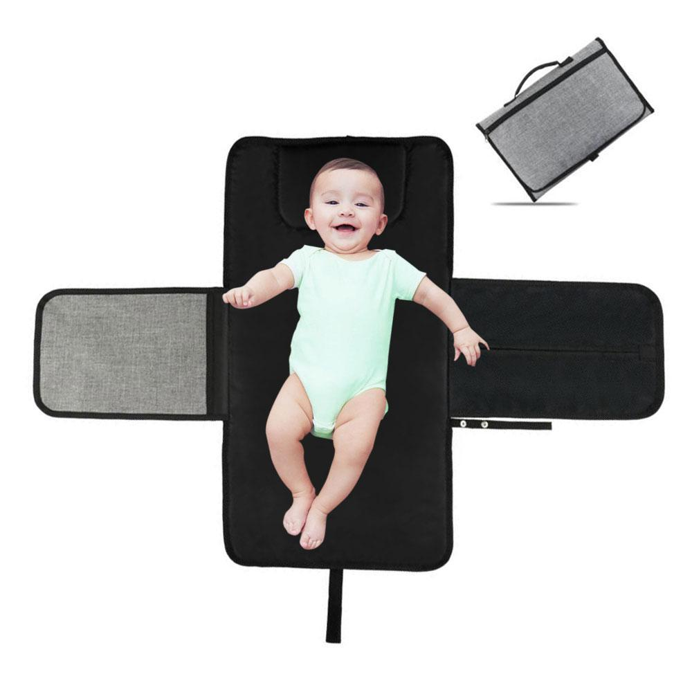 Niceeshop Portable Changing Station For Newborn Baby Infant - Lightweight Travel Home Diaper Changer Mat With Pockets - Waterproof & Foldable Changing Pad Kit By Nicee Shop.