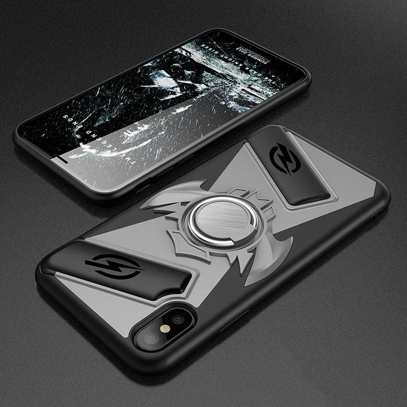 Pelindung Tahan Benturan dengan Pemegang Berdiri dan Stik Game Case untuk Oppo R11s Plus Cover Multifungsi Case S