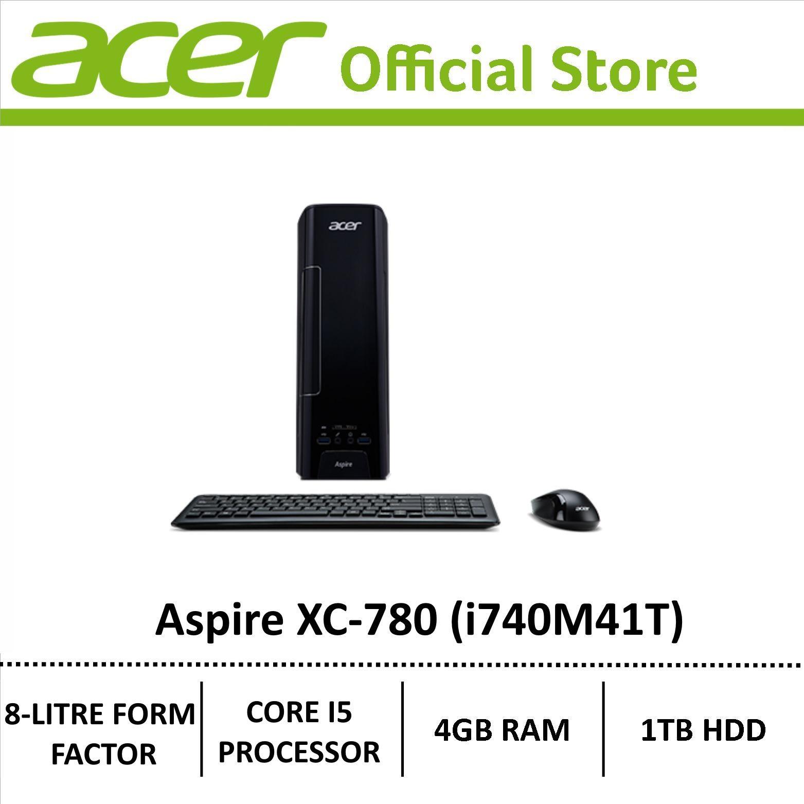 Acer Aspire Xc 780 I740M41T 4Gb Ram 1Tb Hdd Desktop Black Singapore