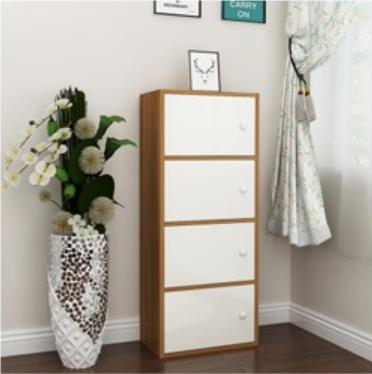 JIJI 4 Tiers BEVERLY CABINET SHELVES ( Free Installation ) (Wooden Storage)