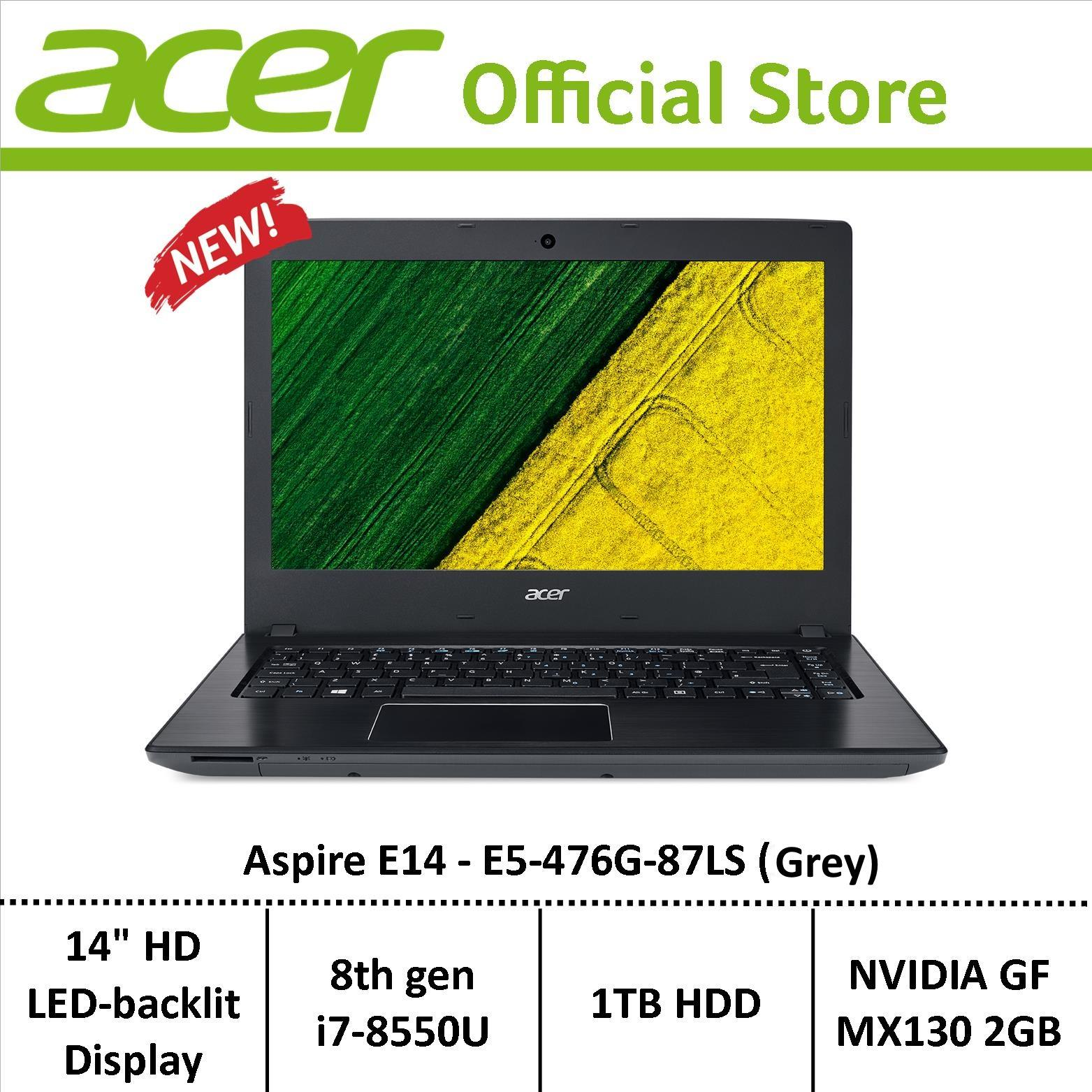Acer Aspire E5-476G-87LS (Grey) Laptop with Graphics Card