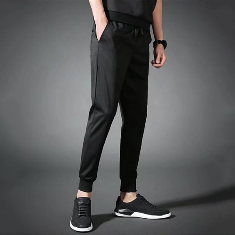 fb1300ae8a72 Men s Drawstring Casual Beach Trousers Sport Long Pants Stretchy Waist Pants