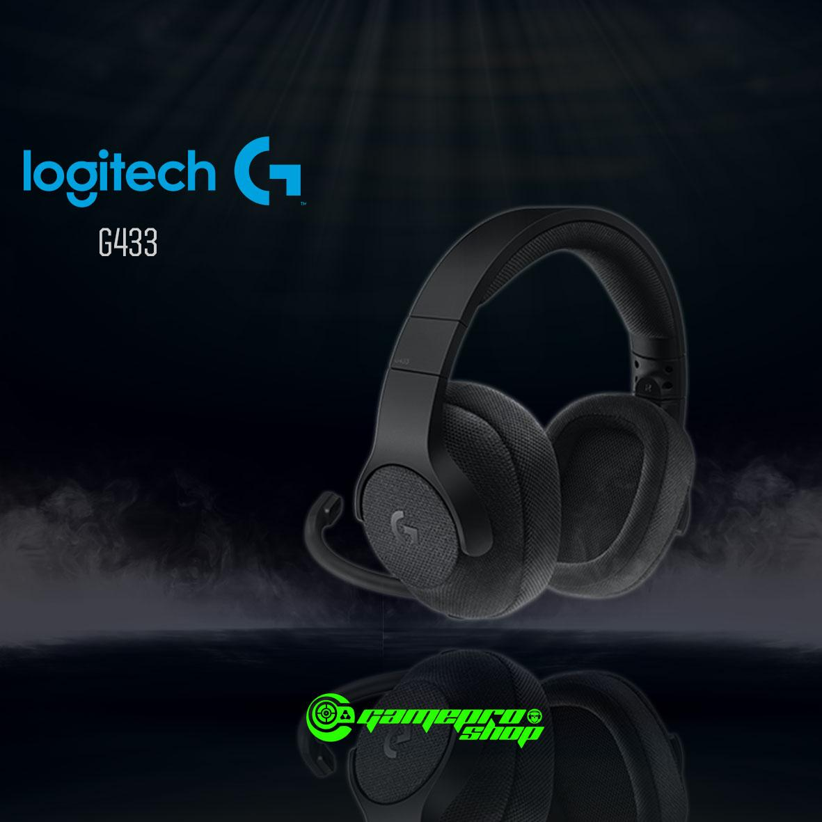 Lowest Price Logitech G433 Black Red Blue 7 1 Wired Gaming Headset With Dts Headphone X 7 1 Surround For Pc Ps4 Ps4 Pro Xbox One Xbox One S Nintendo Switch Gss Promo