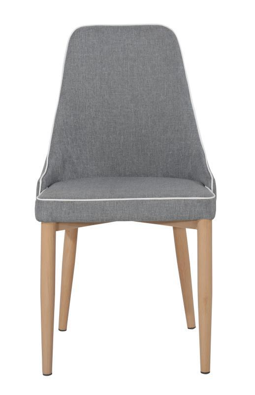 Grey Fabric Low Back Dining Chairs