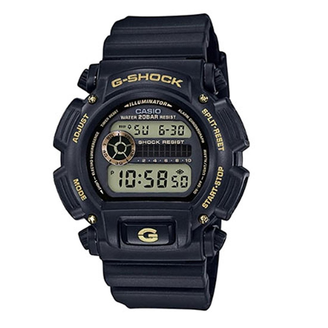 Casio Dw 9052Gbx 1A9 G Shock Black And Gold Alarm Stopwatch Watch Price Comparison