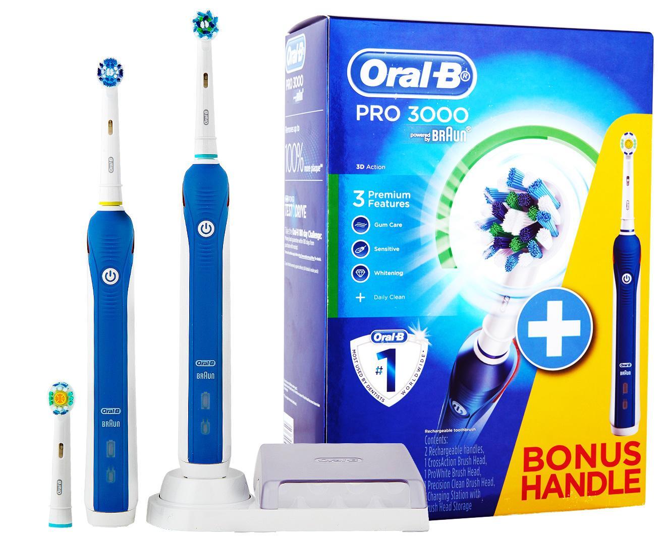 Oral B Pro 3000 Power Toothbrush Kit Bonus Handle Reviews