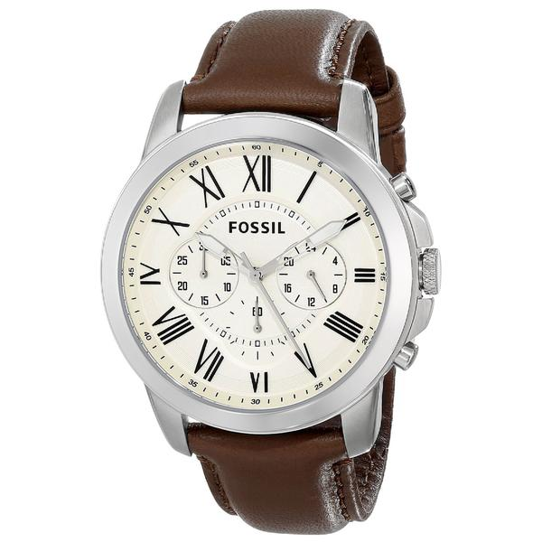 Buy Fossil Fs4735 Grant Chronograph Beige Dial Men S Watch Singapore