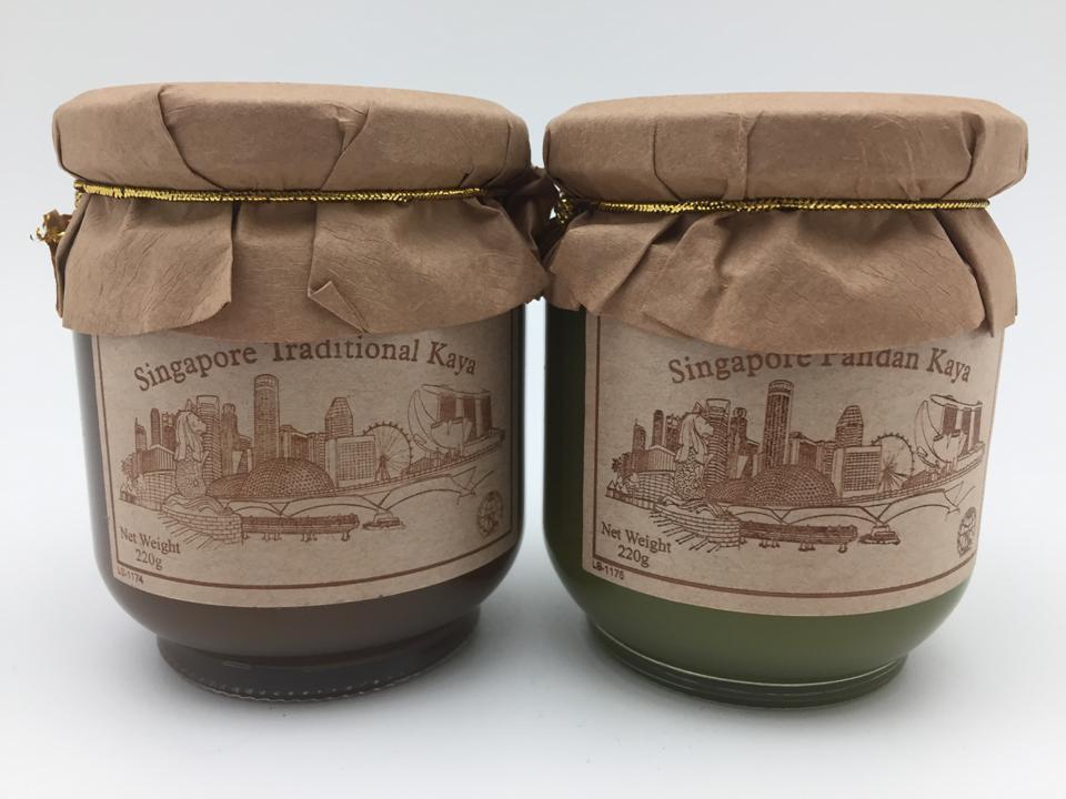 Singapore Traditional And Pandan Kaya Gift Set Of 2 Bottles By My Tea Import Store