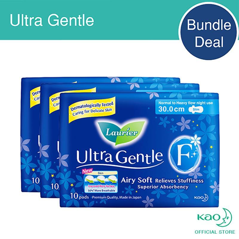 Price Laurier Ultra Gentle Night Slim 30Cm 10Pcs Triple Pack Laurier Online