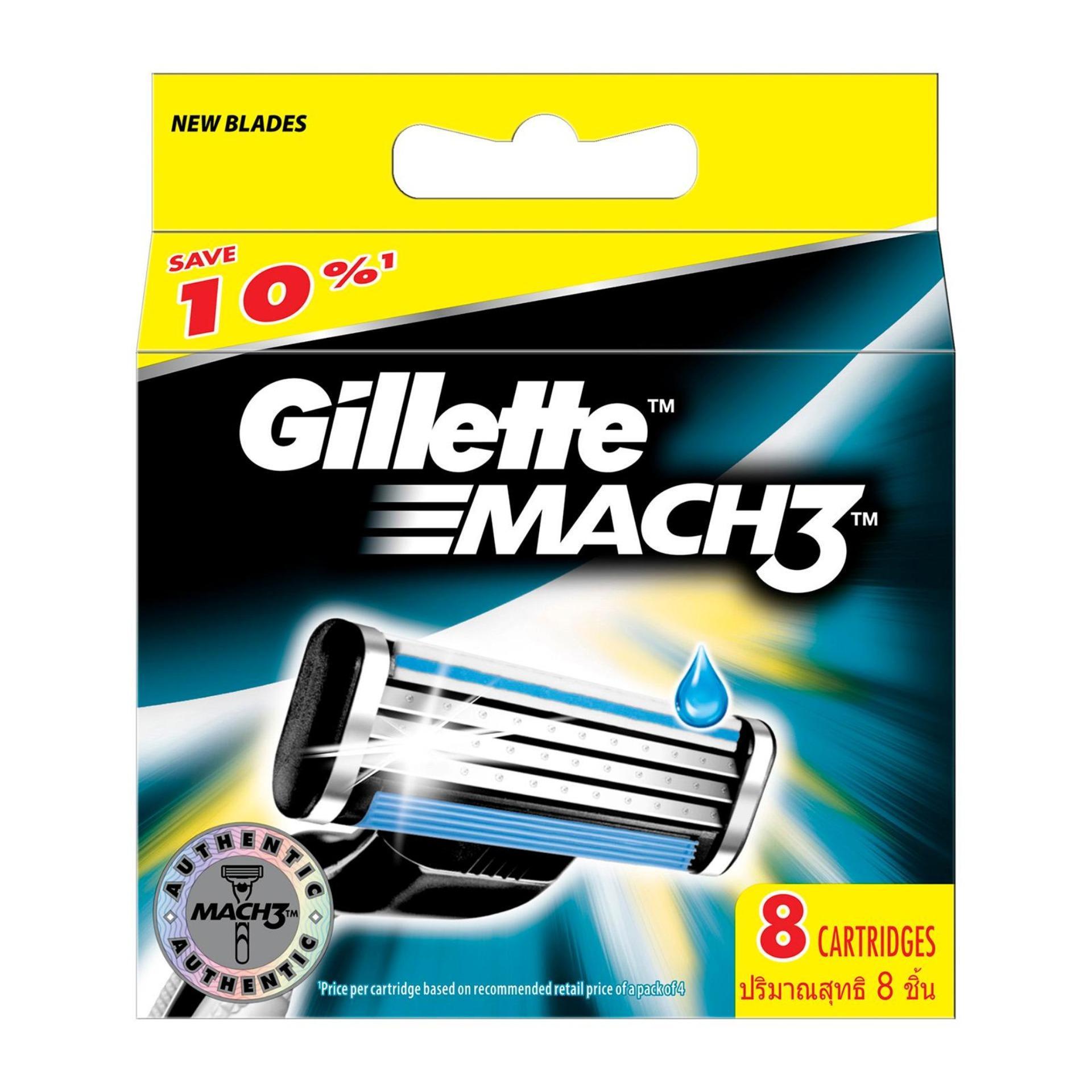 Best Gillette Mach 3 Blades 8 Cartridges
