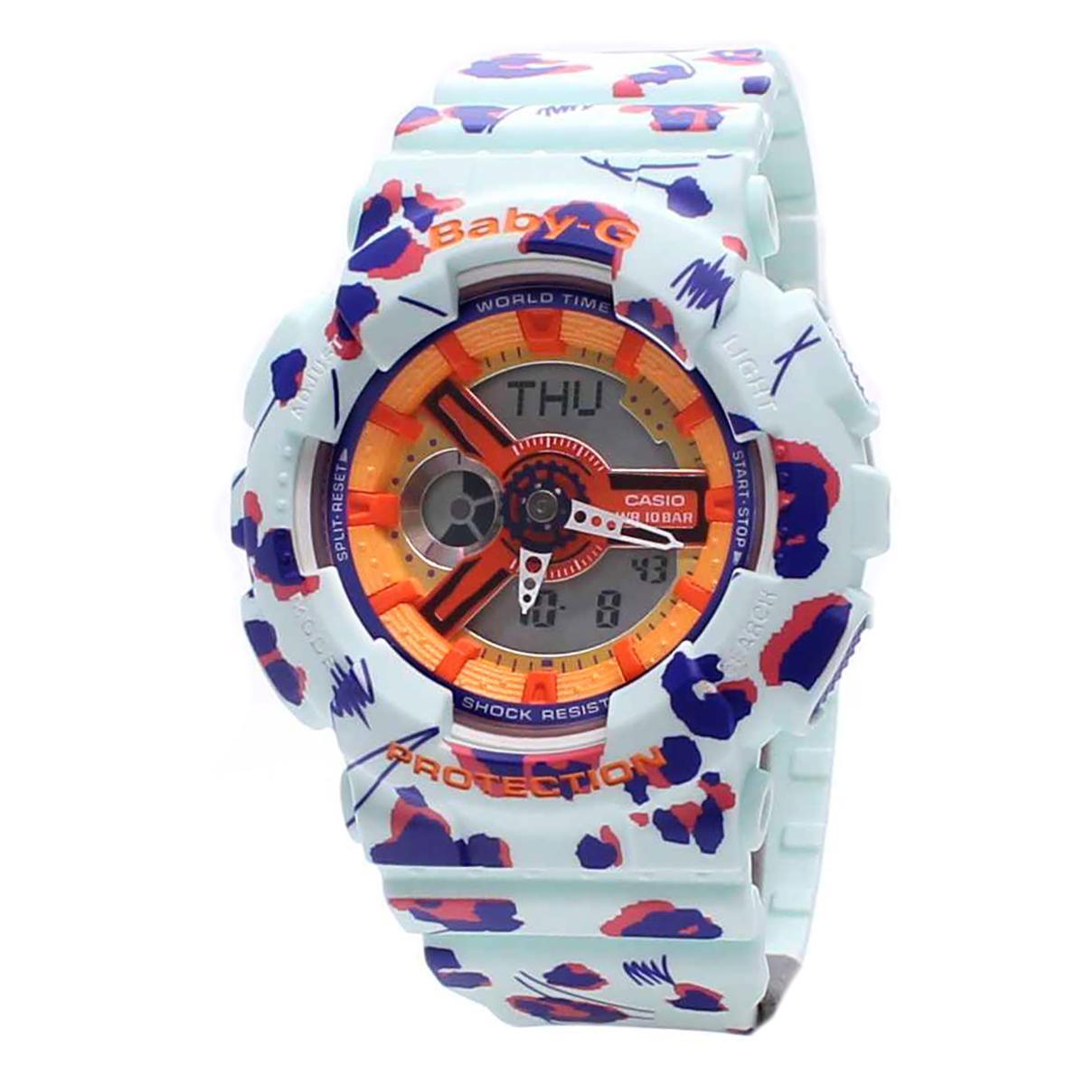 Sale Casio Watch Baby G Multicolored Resin Case Resin Strap Ladies Ba 110Fl 3A Casio Baby G Online