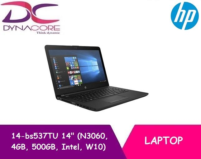 HP 14-bs537TU 14 Laptop Black (N3060, 4GB, 500GB, Intel, W10)