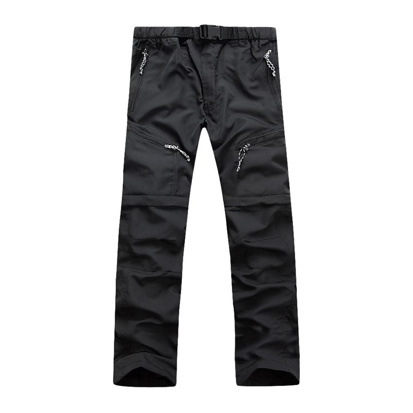 Removable Men Quick Drying Pants Outdoor Casual Breathable Trousers(Light Grey) Price