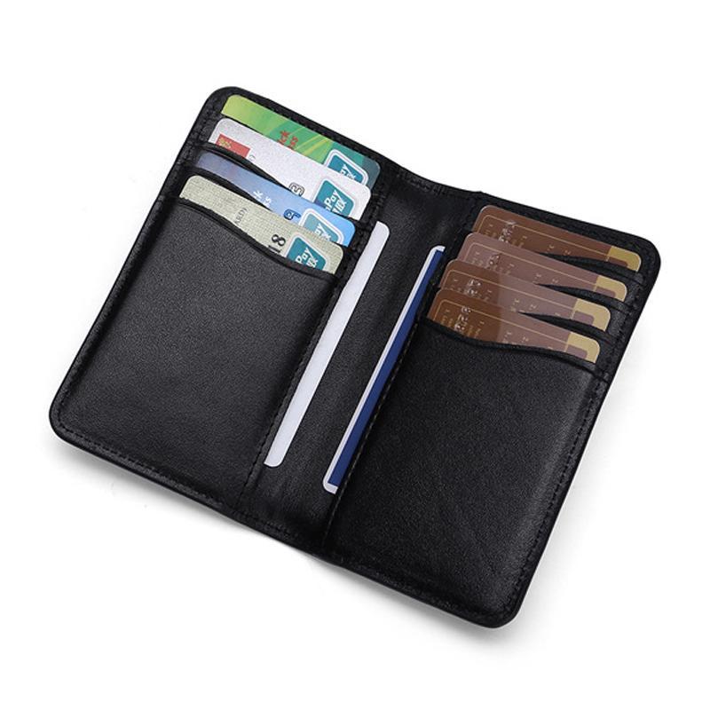 Model baru Kulit asli dompet kartu pria dan banyak tempat kartu Dompet kartu sangat tipis multifungsi