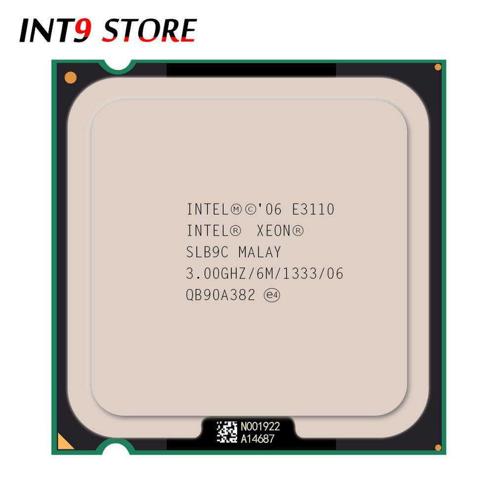 Asli Intel CPU Prosesor Xeon E3110 3.00 GHz/6 M/133Hz Dual-Core Socket 775 Cepat Kapal keluar Setara dengan E8400-Intl