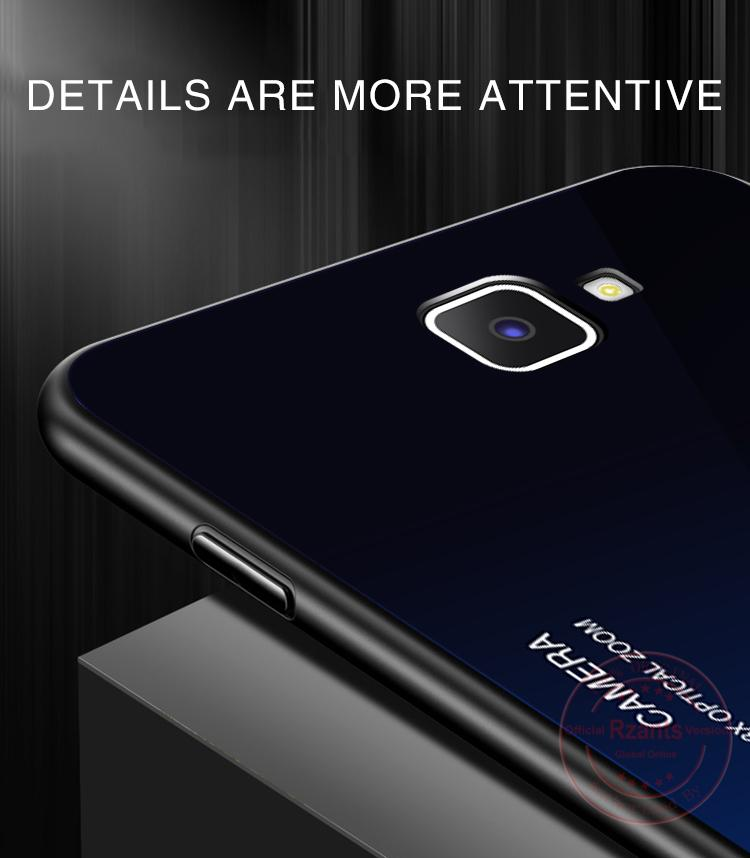 Specifications of Rzants For Samsung Galaxy J7 Prime Case【Gradient】Smooth Tempered Glass Ultra-thin Shockproof Hard Back Phone Casing