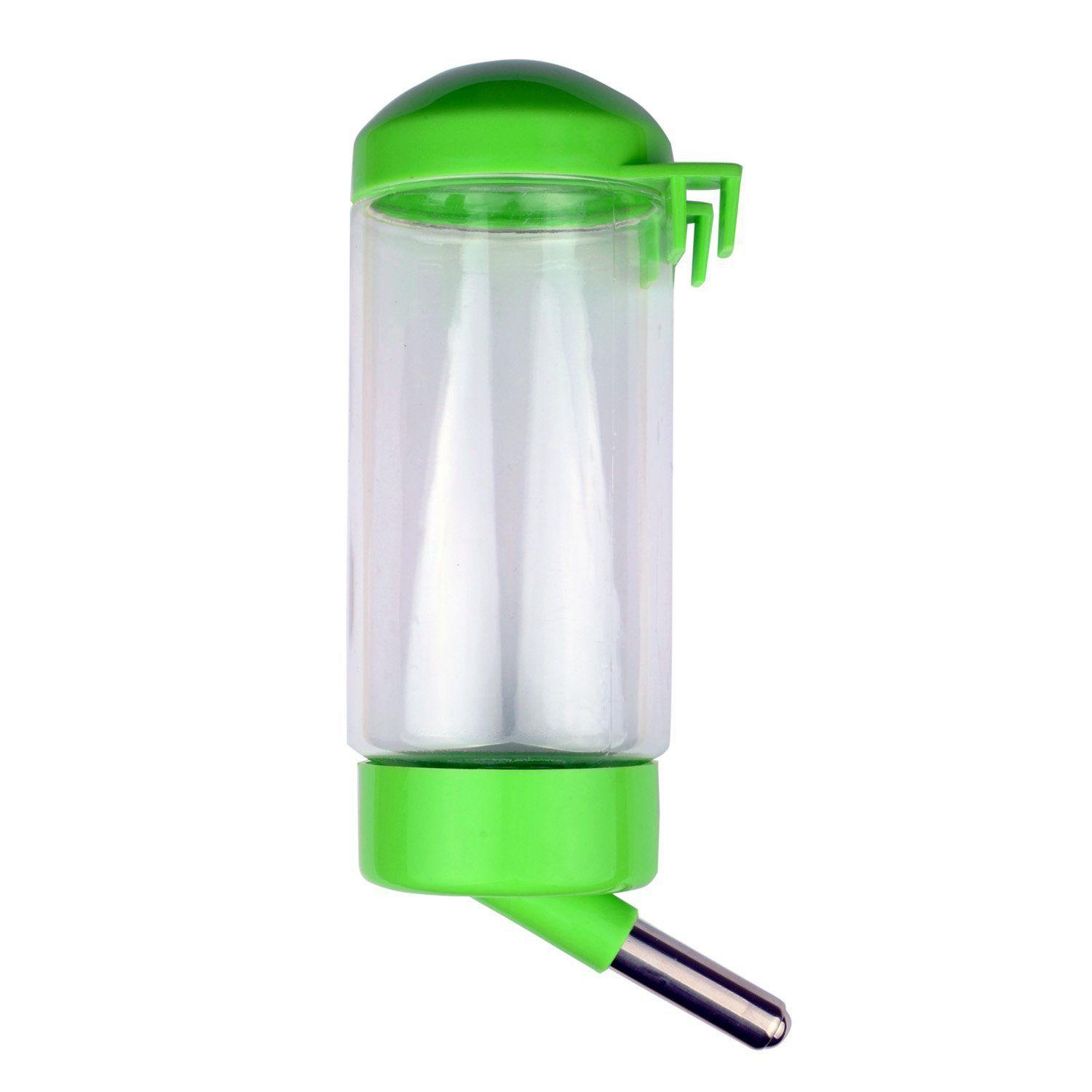 Pet Water Bottle Hanging No Drip Chew Proof 400ml for Puppy Cat Rabbit Small Animals,