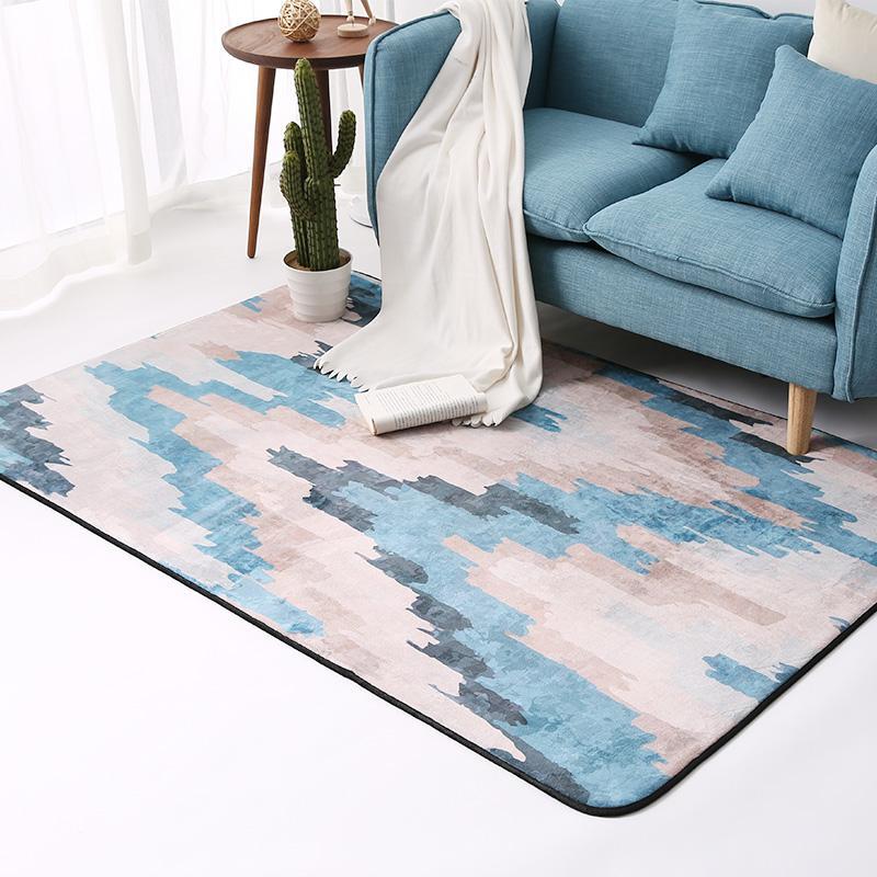 Karpet ruang tamu Nordik HYUNDAI minimalis kamar tidur paving penuh Meja tamu sofa kamar Pinggiran ranjang Karpet rumah tangga Persegi Panjang
