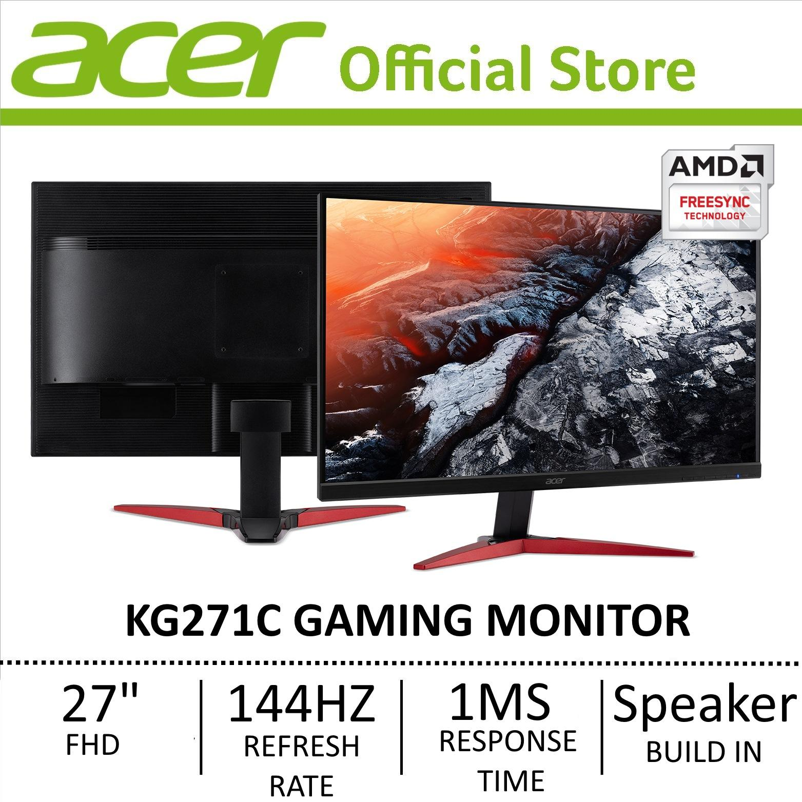 New Acer Kg271C Gaming Monitor With 144Hz Refresh Rate 1Ms Response Time