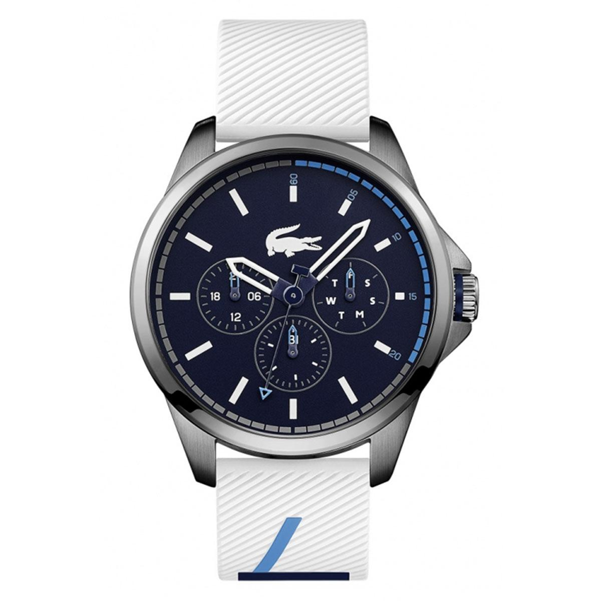 Lacoste Capbreton Multifunctions White Stainless-Steel Case Silicone Strap Mens 2010980