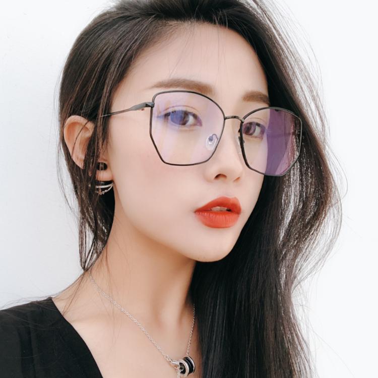 Bingkai kacamata model jaringan wajah bulat    Ting Model Sama kacamata  wanita Gaya Korea pasang f84a5f76ff