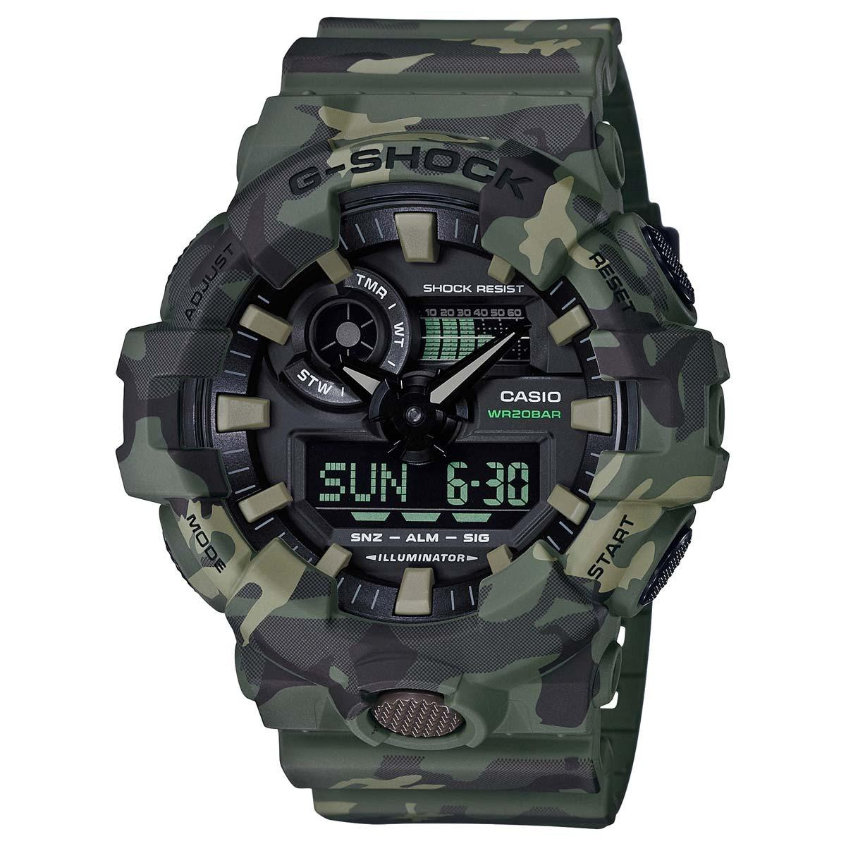 Discount Casio Gshock Green Camo Analogue Digital Mens Watch Ga700Cm 3Adr Ga 700Cm 3Adr Casio G Shock Singapore