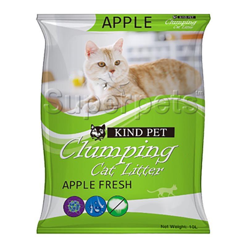 Price Kind Pet Fine Clumping Sand Cat Litter 10L Apple Online Singapore