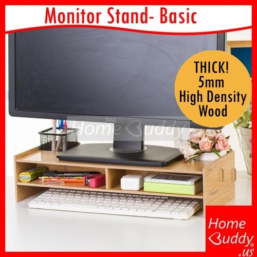 Monitor Laptop Stand Version Basic Thick 5Mm High Density Wood Ready Stocks Sg Reach You 2 To 4 Work Days Homebuddy Acev Pacific Compare Prices