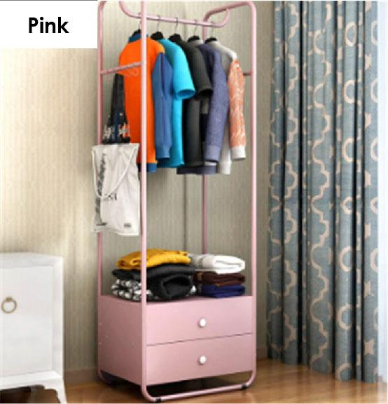 Standing Clothes Rack with Drawers (LRCR - 04)z