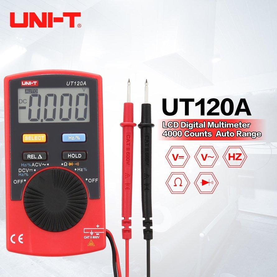 OSMAN UNI-T UT120A 4000 Hitungan Multimeter Digital Saku Auto Range DC/AC Voltage