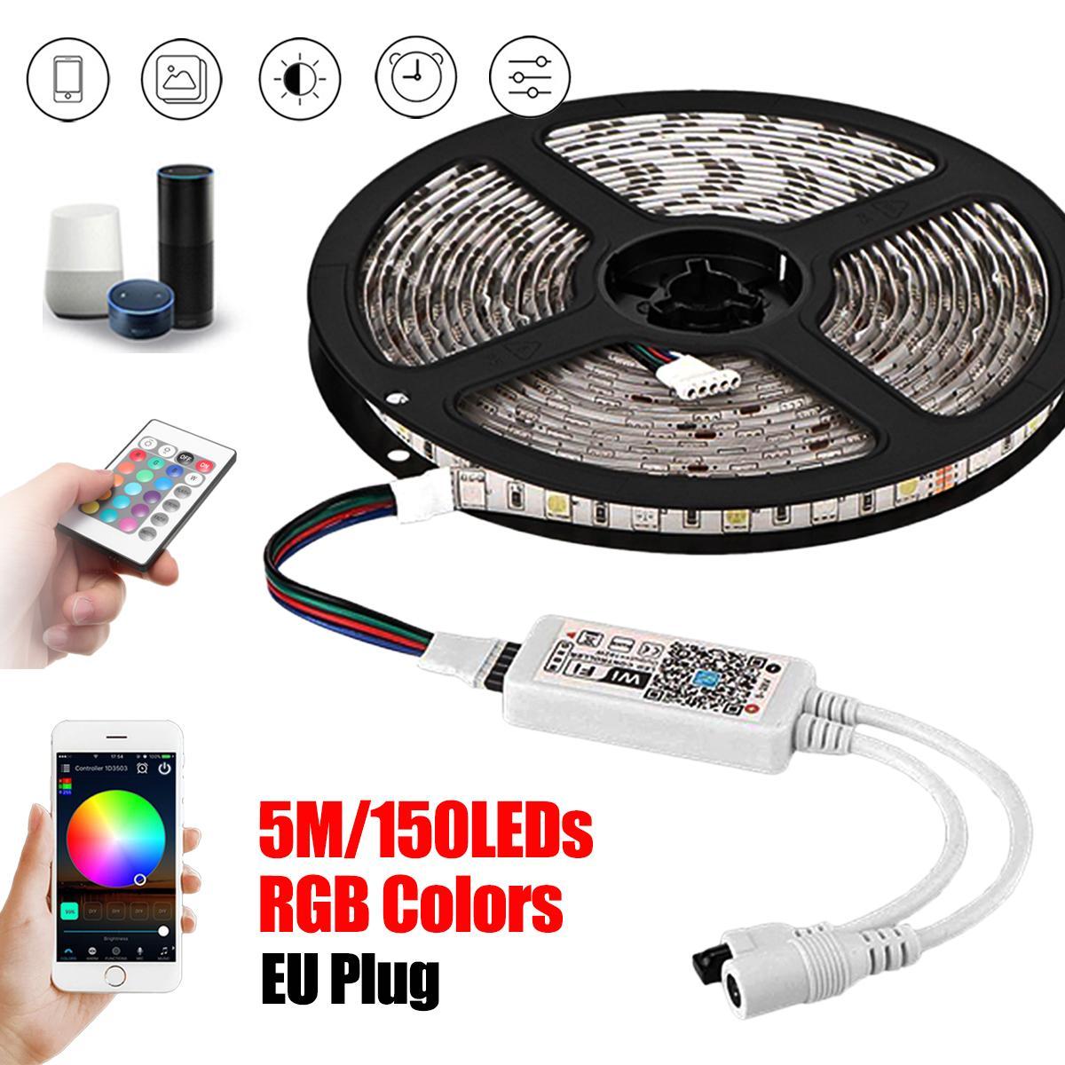 5M 16 4Ft Smart Wifi Rgb 150 Led Strip Lights For Echo Alexa Google Home Ir Eu Plug Intl Coupon
