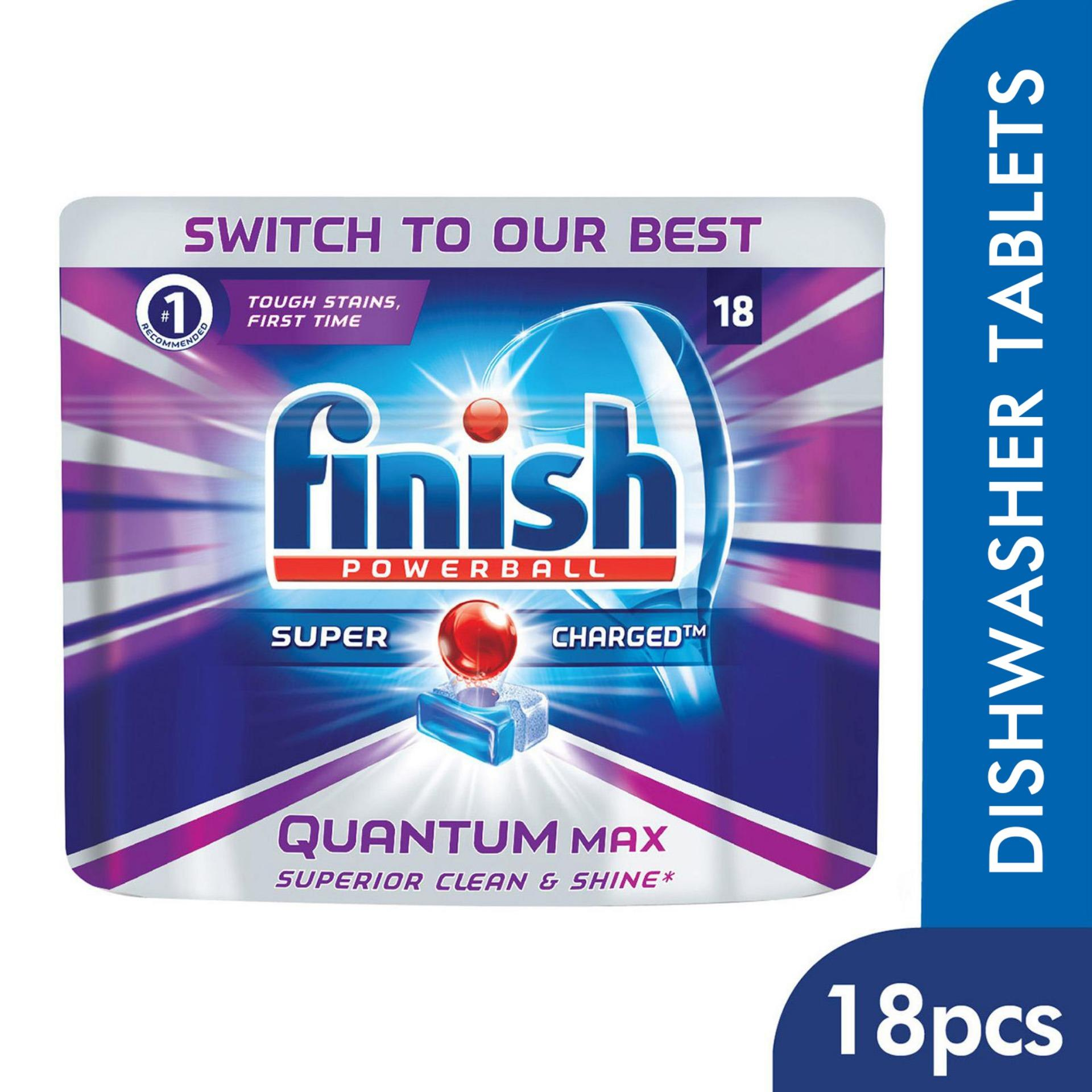 Finish Quantum Max Super Charged Powerball Dishwasher Tablets Dishwashing Cleaner Review