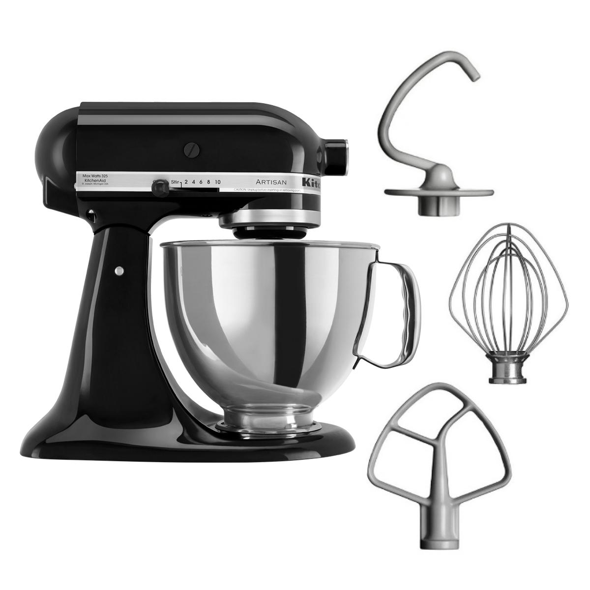 Kitchenaid Artisan Stand Mixer 5ksm125b With 4 8l Bowl Stand Mixer Cover And Food Grinder Attachment Singapore