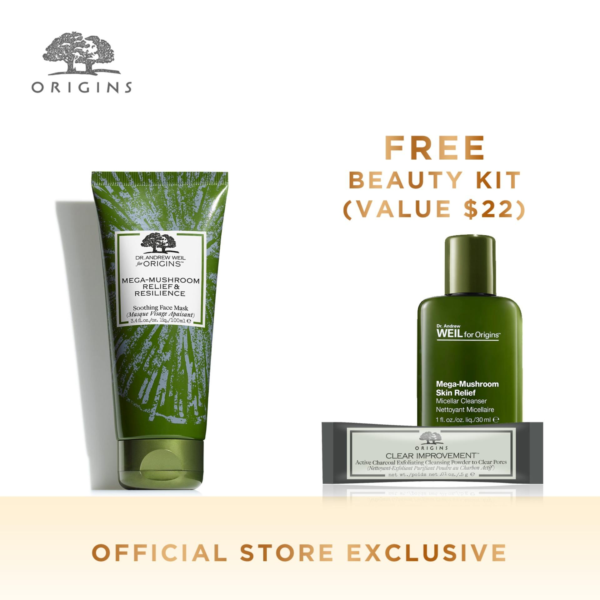 Great Deal Origins Dr Andrew Weil For Origins™ Mega Mushroom Relief Resilience Soothing Face Mask 3 4 Fl Oz 100 Ml