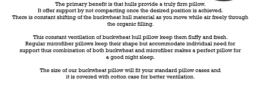 Buckwheat Pillow P8