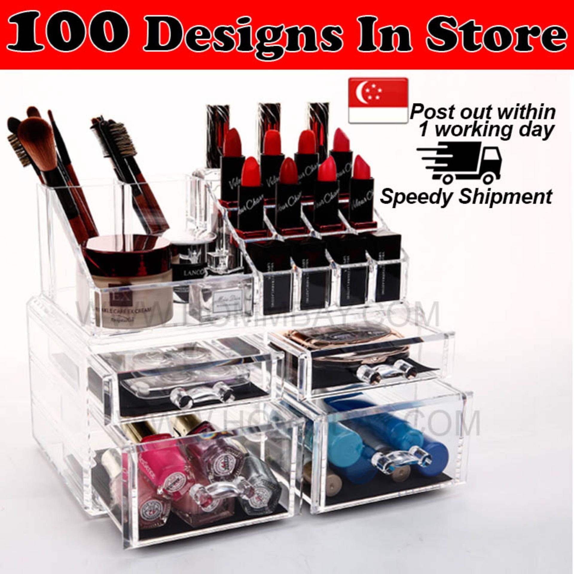 Best Offer Large Acrylic Make Up Makeup Cosmetic Organiser Organizer Storage Box Holder