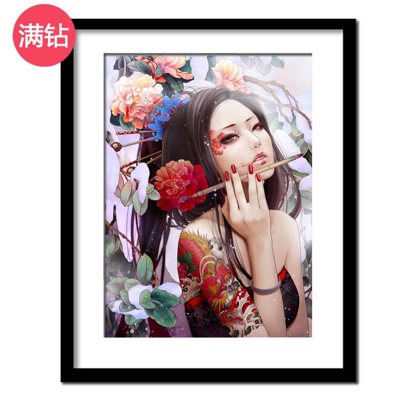 Cheap Antique Style Diamond Painting Full Of Crystals Anime Cartoon Cross Stitch Online