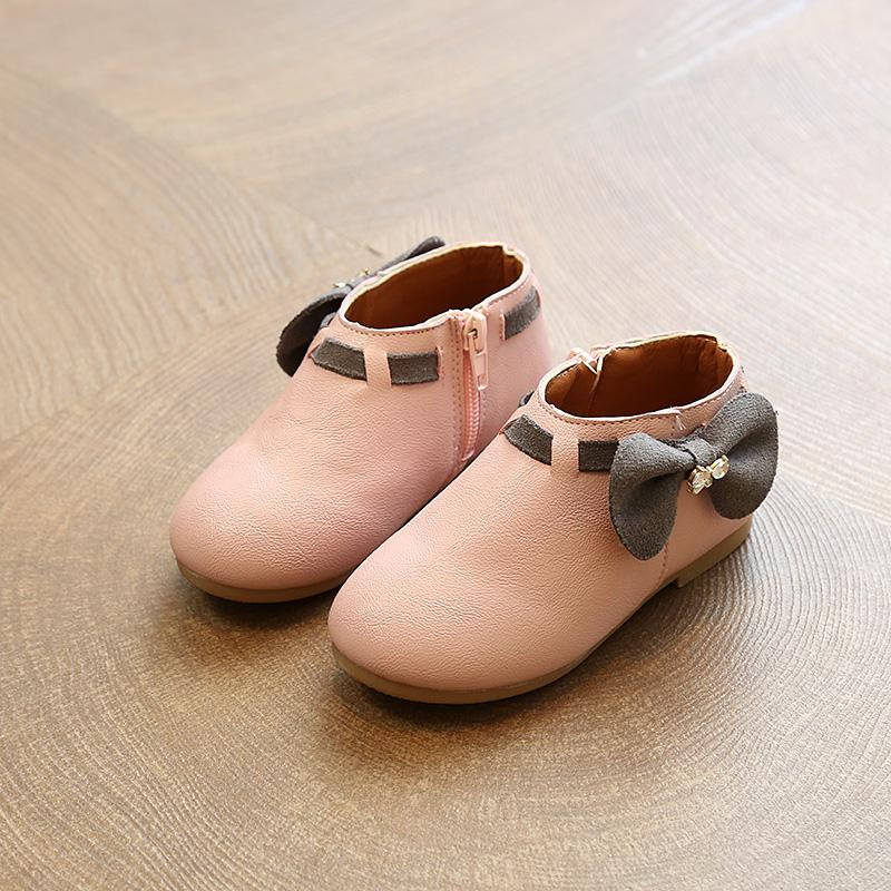 2018 Spring New Style 1 Princess Shoes 2 Korean Style Girls' Leather Shoes  3 Middle