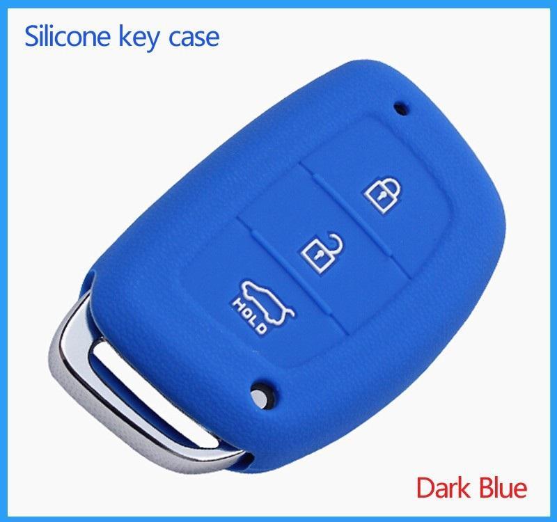 Price Hyundai Silicone Car Key Cover For Elantra I40 Blue Oem