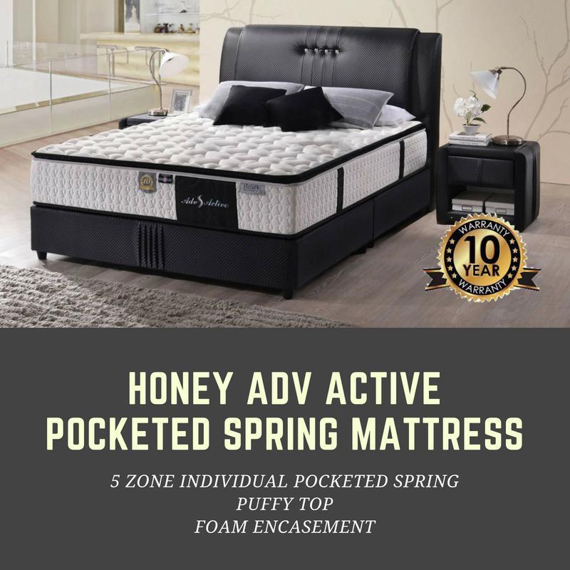 [Furniture Ambassador] Honey Adv Active 11 Inch Individual Pocketed Spring Mattress