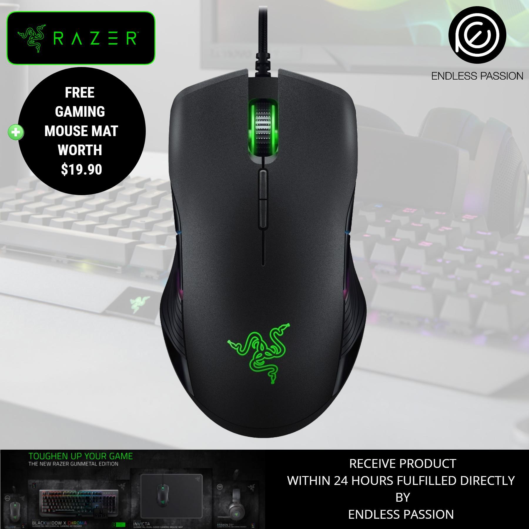 Price Razer Lancehead Tournament Ambidextrous Gaming Mouse Gunmetal Mecury Edition Razer Original