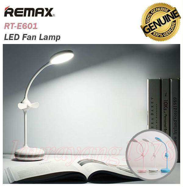Remax RT-E601 LED Fan Light Table Lamp 360 Rotation Rechargeable Battery 2in1
