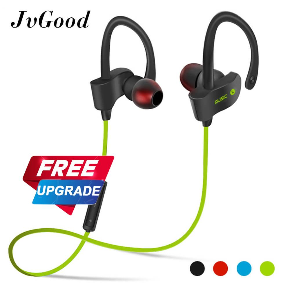 Buy Jvgood Bluetooth Headphones Wireless Sports Earphones W Mic Hd Stereo Sweatproof Earbuds For Gym Running Workout Noise Cancelling Headsets Intl China
