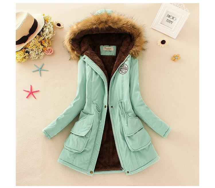 d3f500a0b 2018 Autumn And Winter New Style Korean Style plus Velvet Hooded  Cotton-padded Clothes women Waist Hugging Berber Fleece Students  Cotton-padded Jacket ...