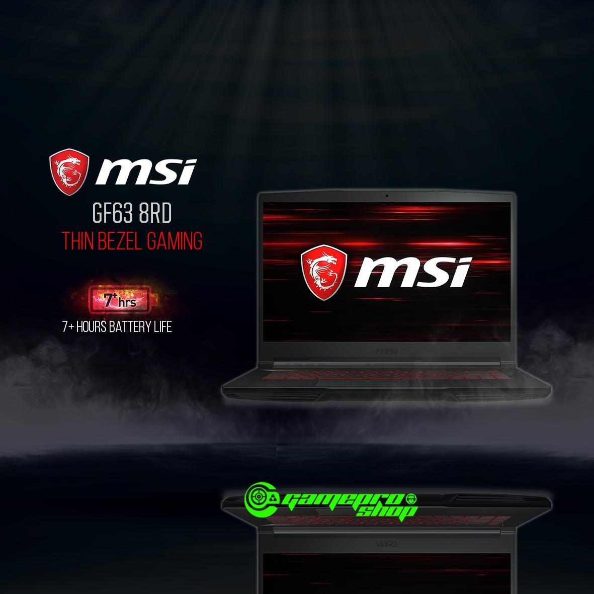 8th Gen MSI GF63 8RD -202SG (I7-8750H/8GB/128GB SSD/GTX1050Ti)Thin bezel design Gaming Laptop *NDP PROMO*