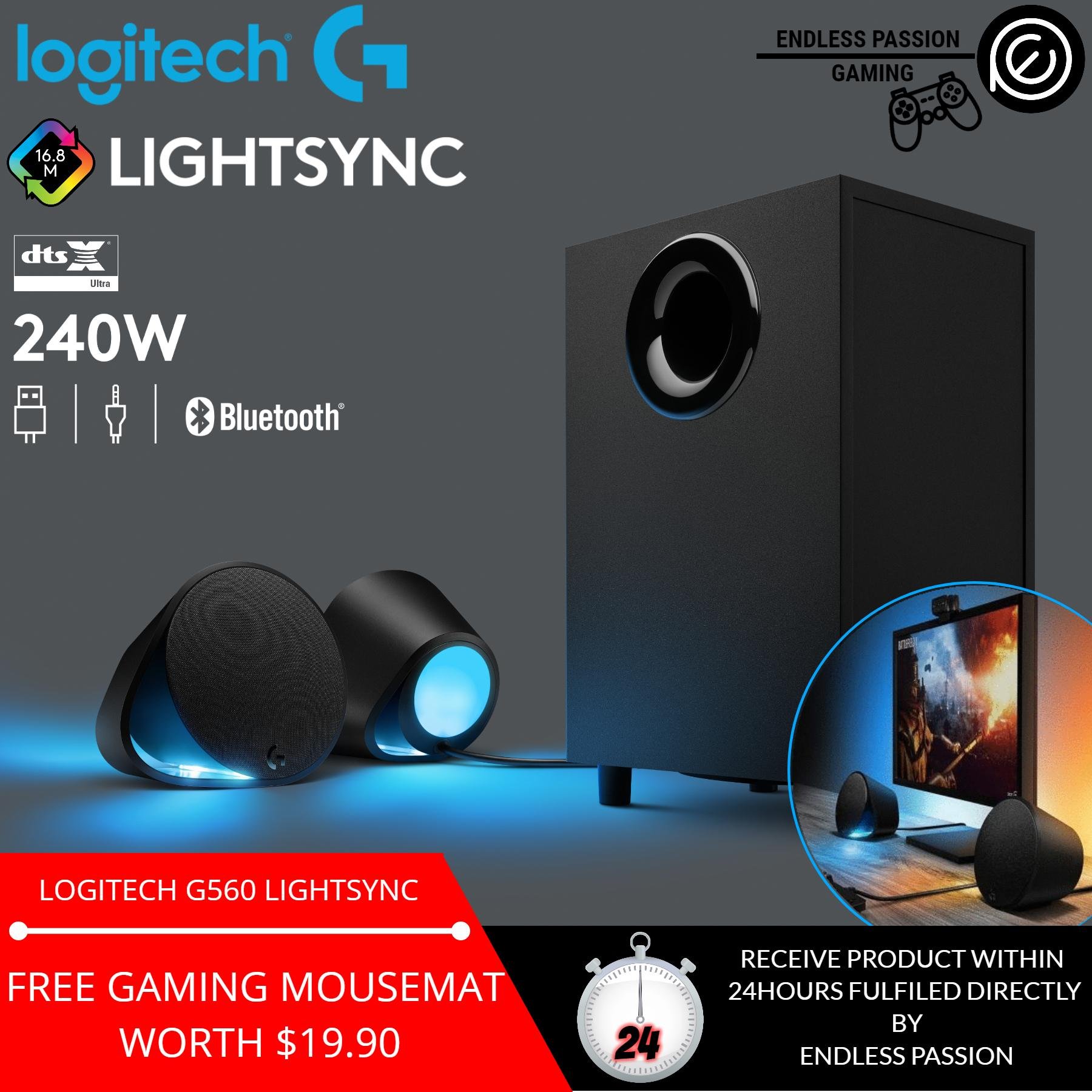 Logitech G560 LIGHTSYNC PC Gaming Speakers with Game Driven RGB Lighting  Singapore