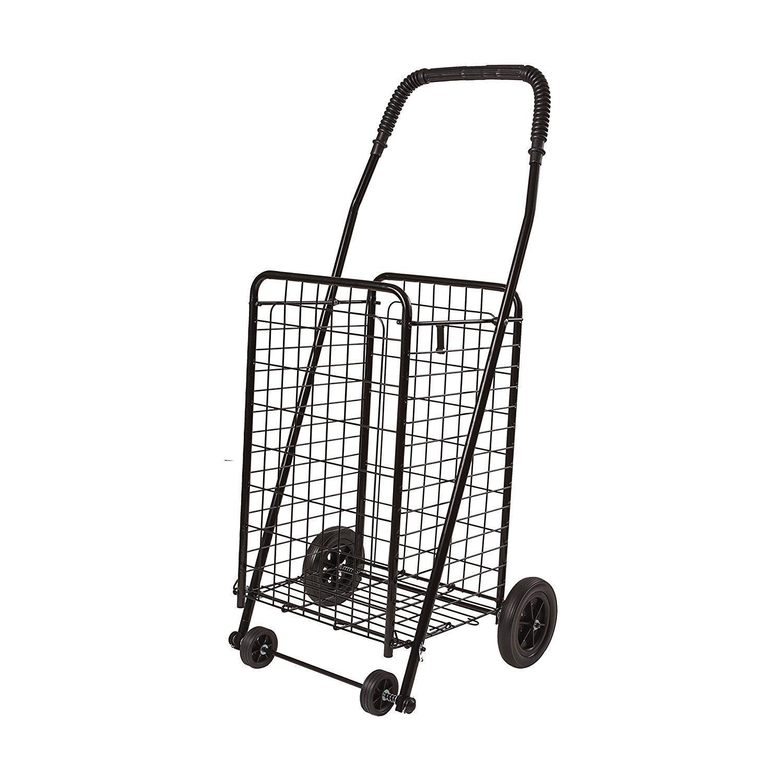 Miuniu 8 Wheel Aluminum Portable Folding Stair Shopping Cart