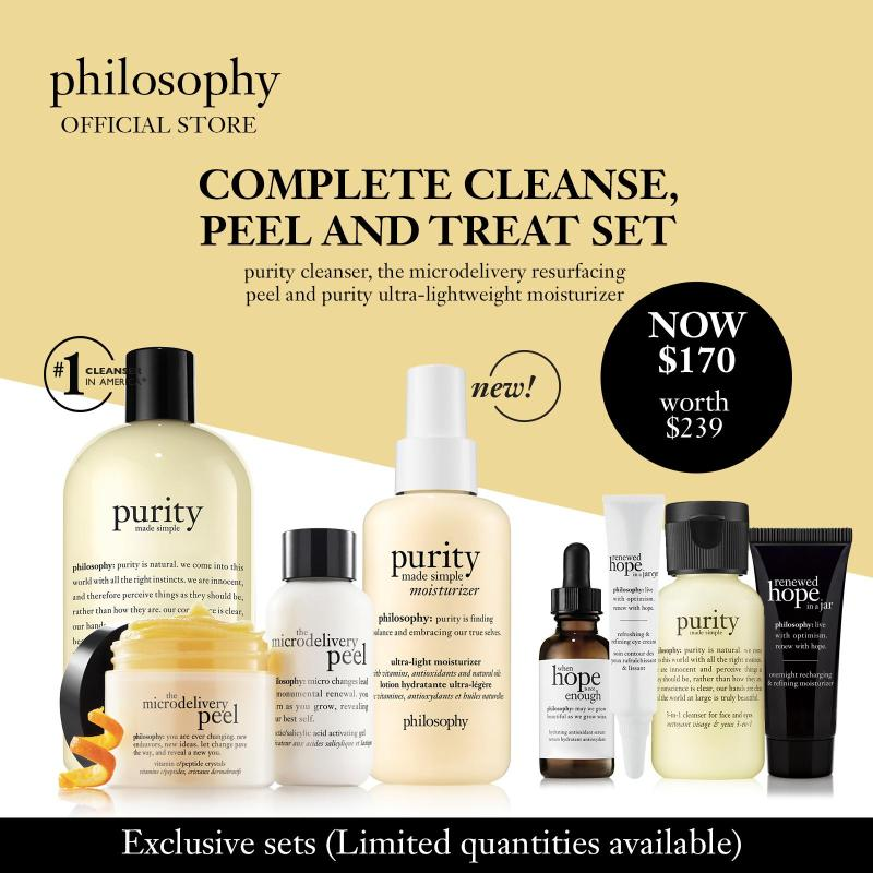 Buy philosophy complete cleanse, peel and treat set (worth $239) Singapore
