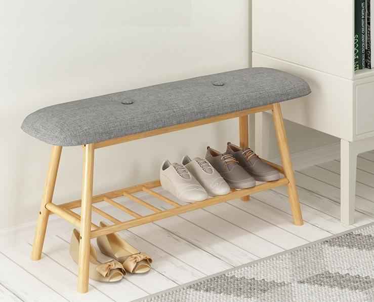 Nordic Storage Shoe Bench (90cm)