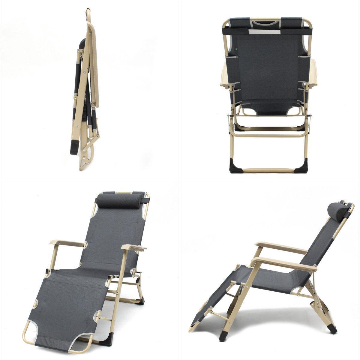 Cotton Cushion Foldable Chair/Beach Chair ☆ Outdoor/Lying Bed/Reclining Chair